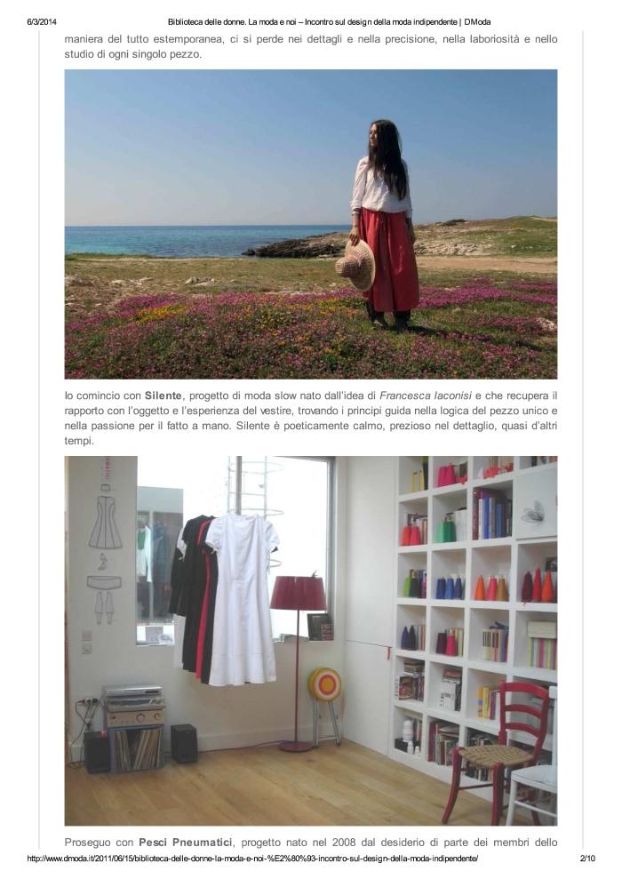 Biblioteca delle donne. ...da indipendente | DModa