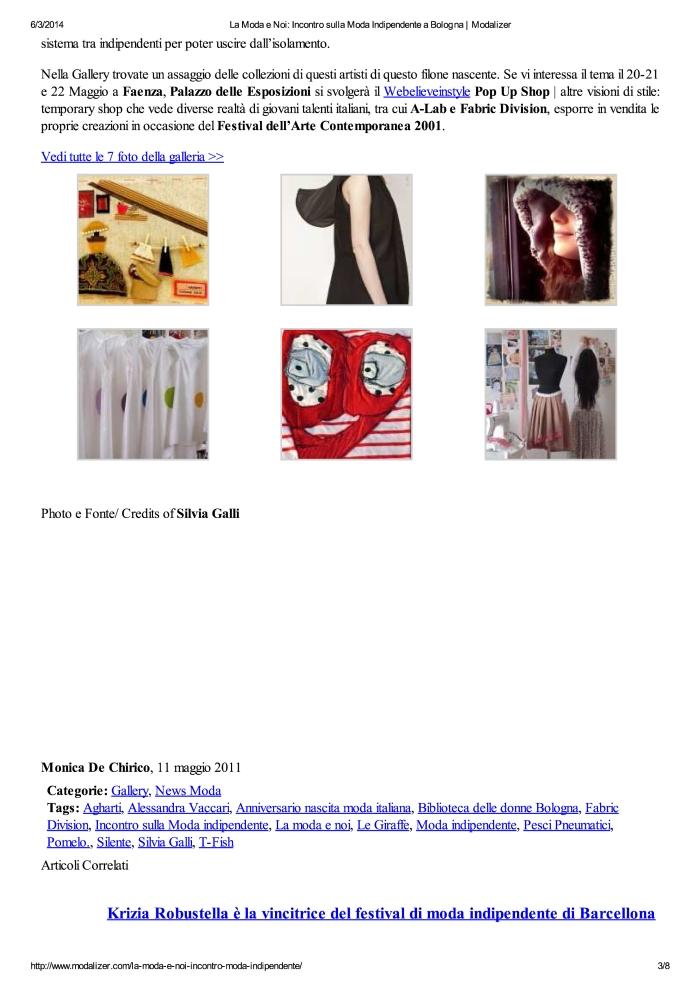 La Moda e Noi: Incontro ...e a Bologna | Modalizer