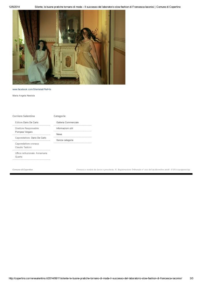 Silente, le buone pratiche tornano di moda – Il successo del laboratorio slow fashion di Francesca Iaconisi _ Comune di Copertino-3